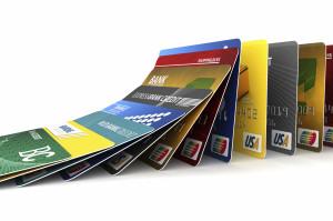 Falling credit cards